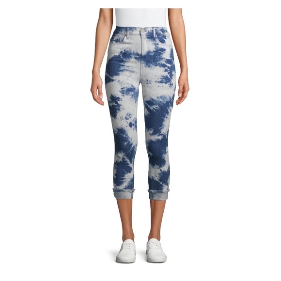 Indigo Tie Dye Cropped Jeggings